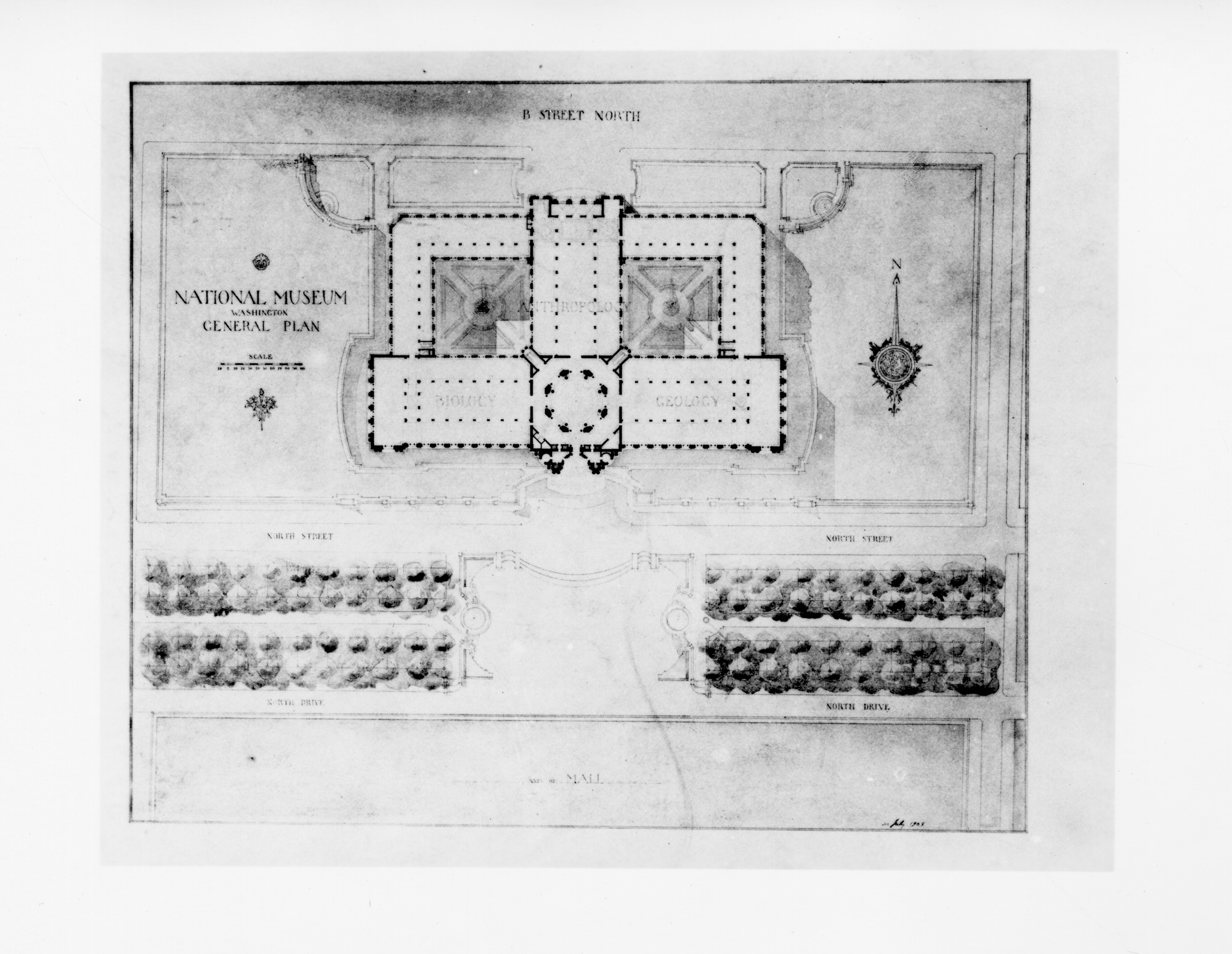 General Building Plan for the National Museum of Natural History