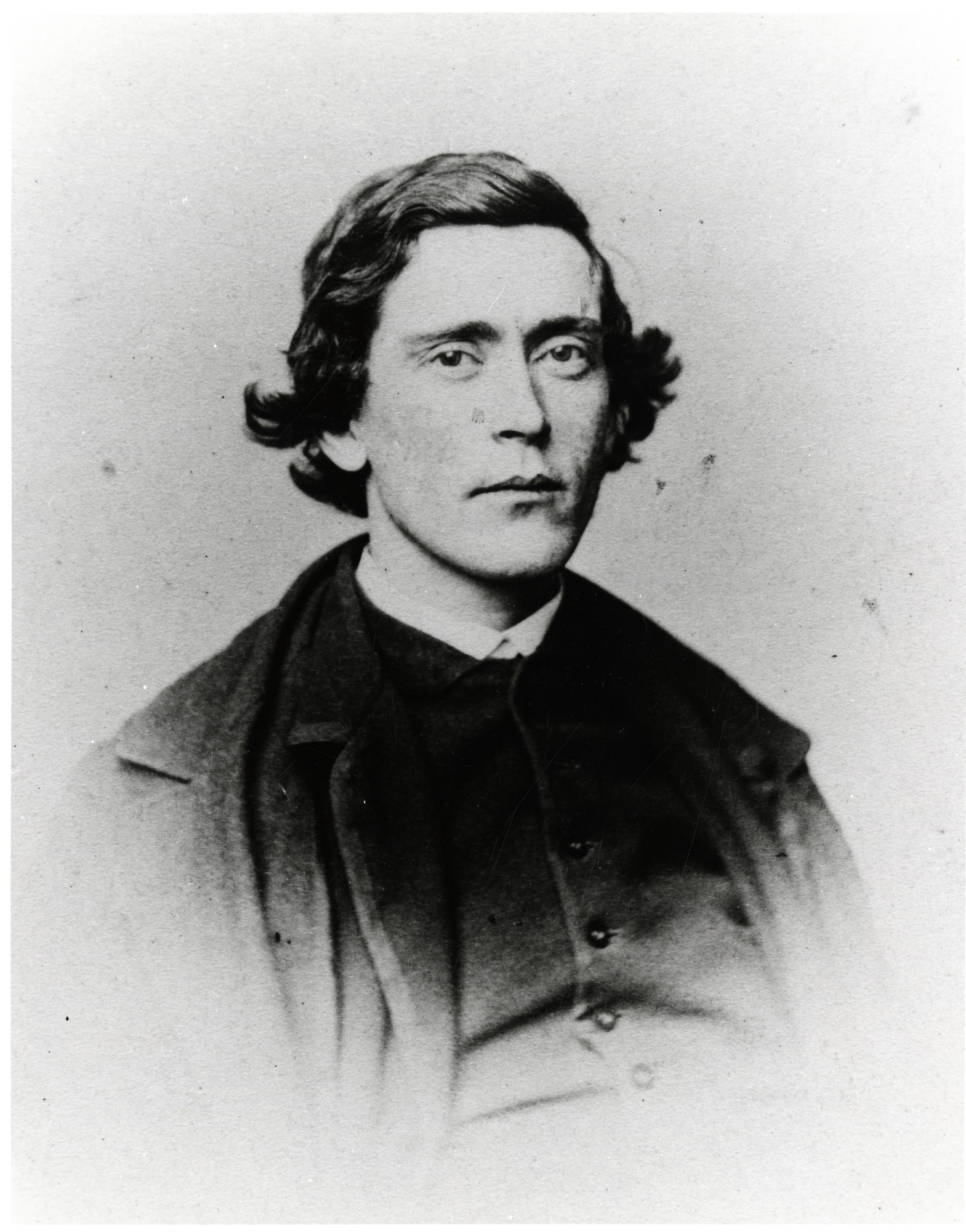 Black and white portrait of a man.