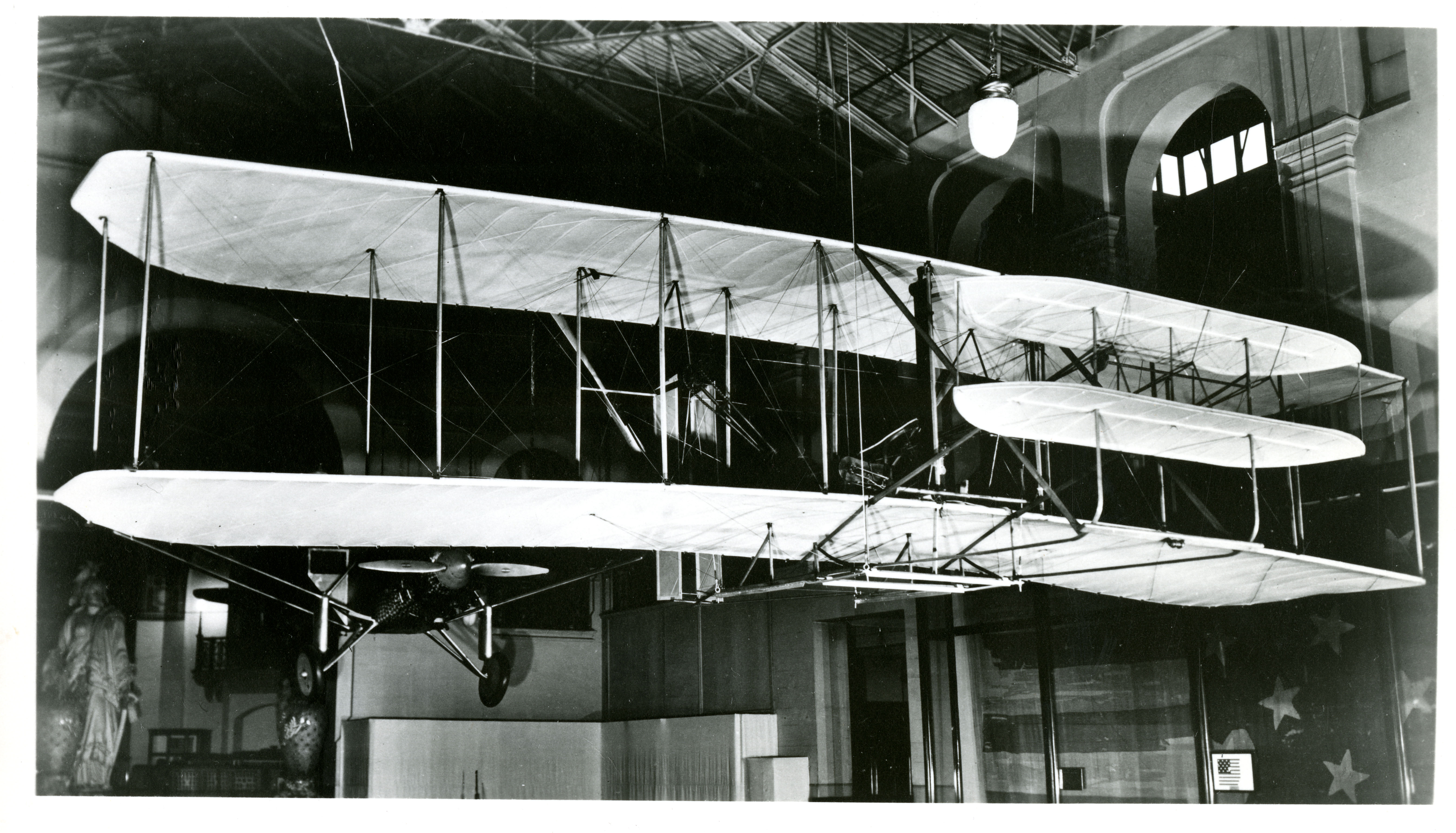Old Exhibits, Original Wright Brothers Aeroplane of 1903.