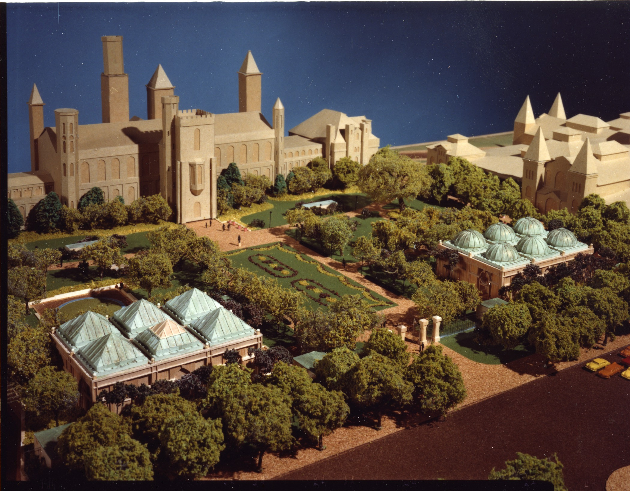 Model of the Quadrangle Viewed from the Southwest, c. 1979.