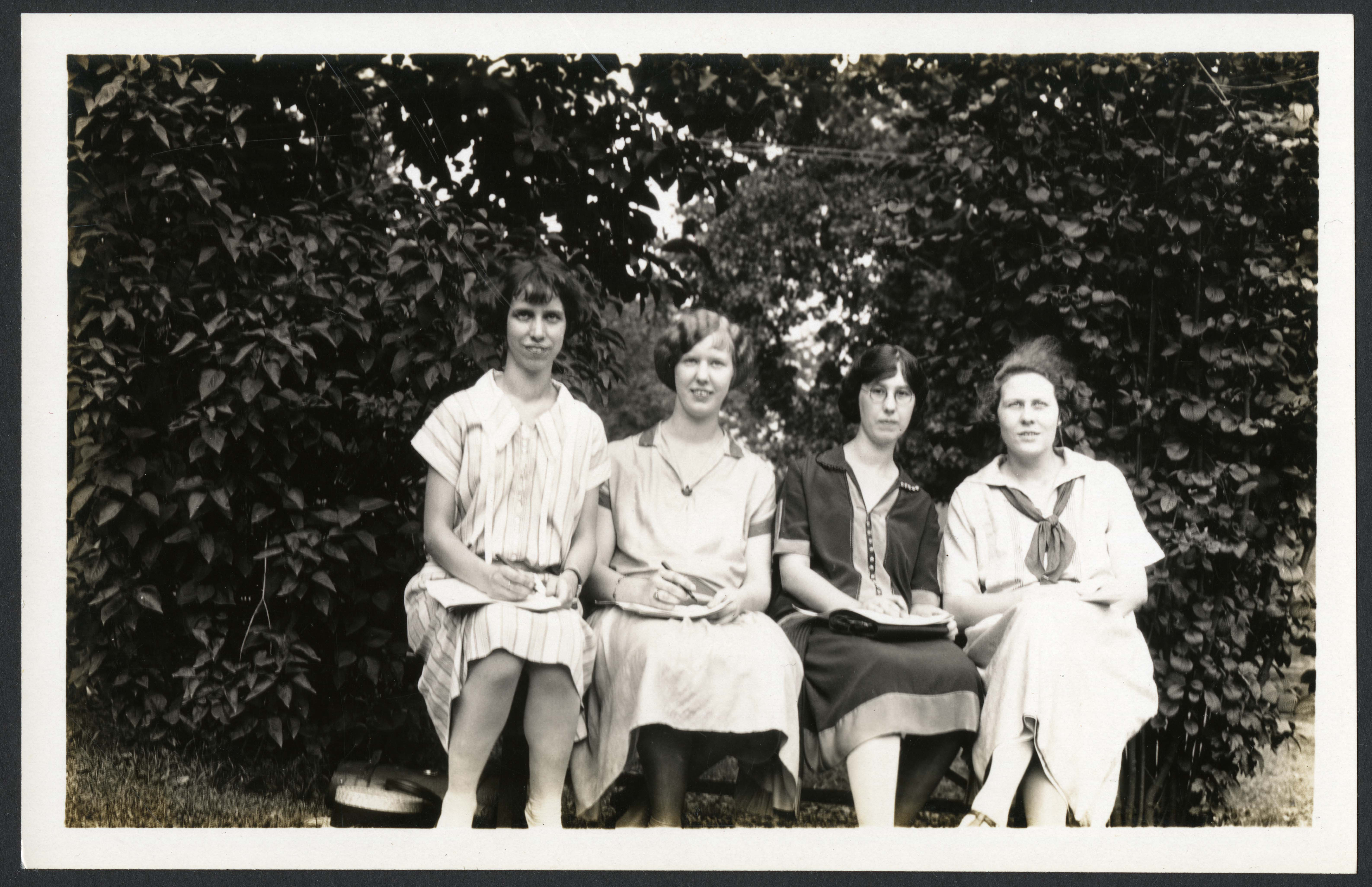 "Katherine Tait Omwake, Louise Omwake, Thelma Hunt, and Alice Haines, George Washington University ""S"