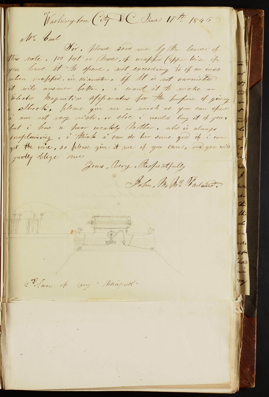 John M. McFarland to Alfred Vail, June 17, 1846.