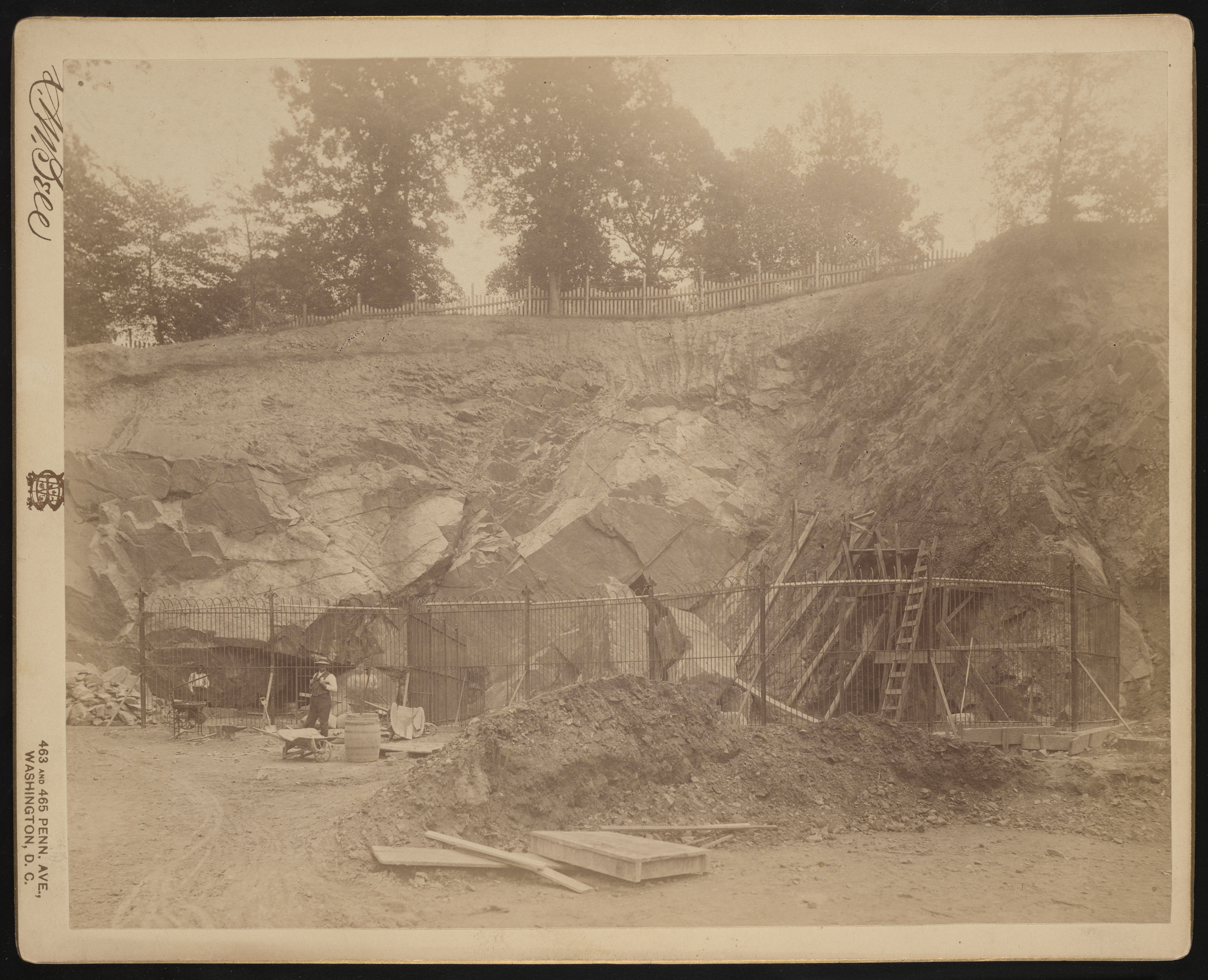 National Zoological Park, Construction of Bear Cages at Rock Quarry
