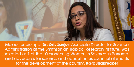 Molecular biologist Dr. Oris Sanjur, Associate Director for Science Administration at the Smithsonia