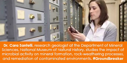 Dr. Cara Santelli, research geologist at the Department of Mineral Sciences, National Museum of Natu