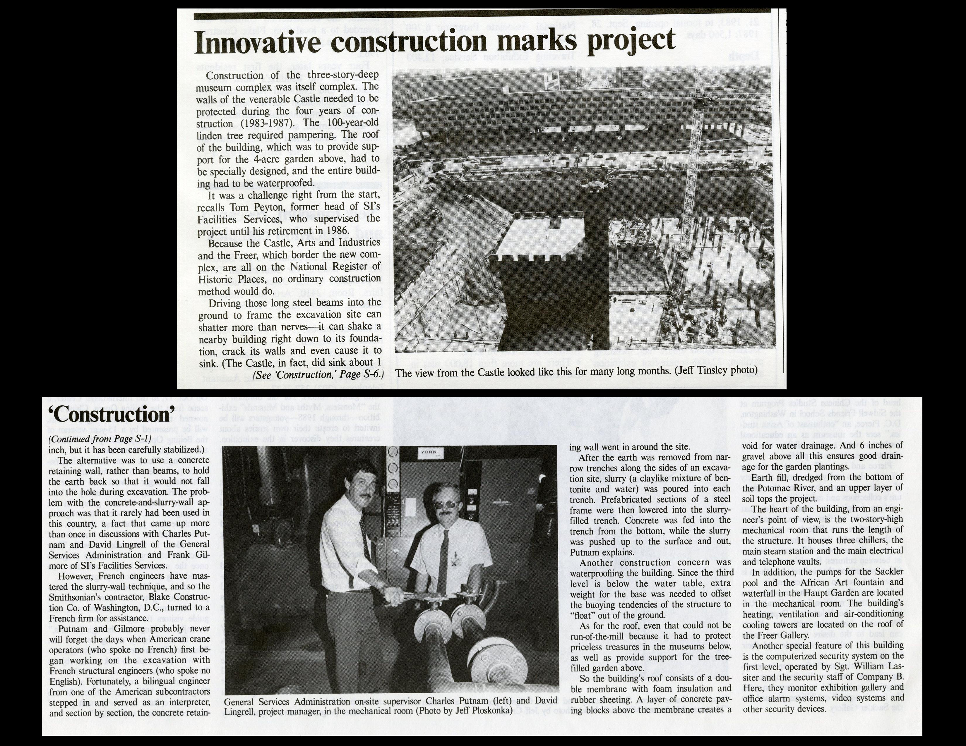 """Innovative construction marks project"" - Quadrangle Special Supplement, The Torch, September 1987,"