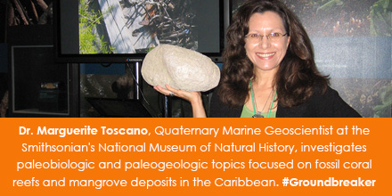 Dr. Marguerite Toscano, Quaternary Marine Geoscientist at the Smithsonian's National Museum of Natur