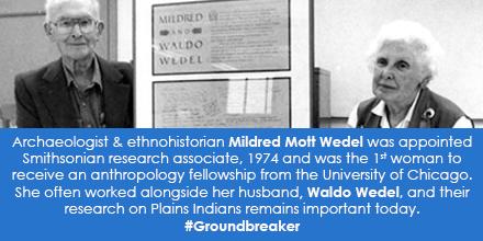 Portrait of Mildred Mott Wedel and Waldo Wedel