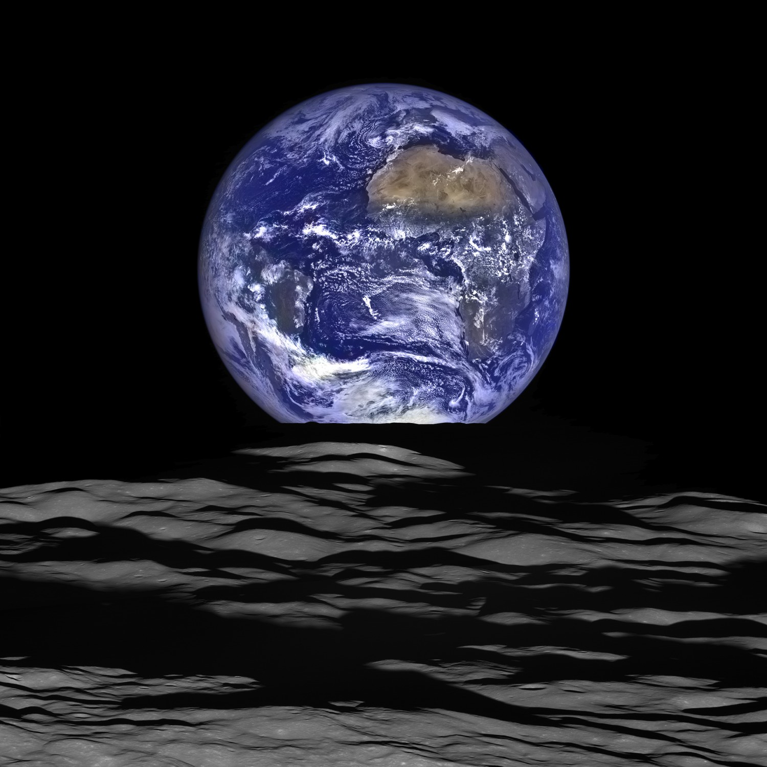 Earth by NASA's Lunar Reconnaissance Orbiter.