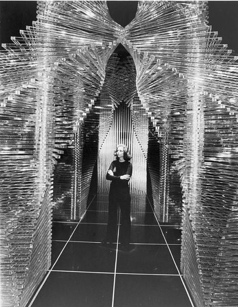 Room of Plexiglass Exhibit at Cooper-Hewitt Museum, 1976, 95-20302.