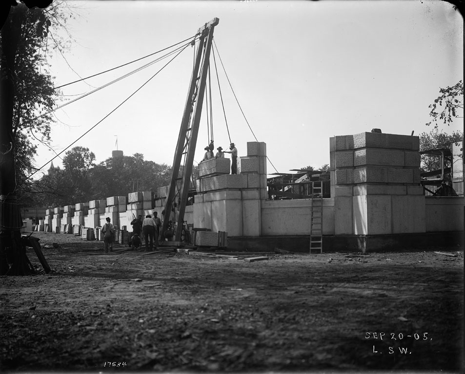 Construction of First Story of U. S. National Museum Building