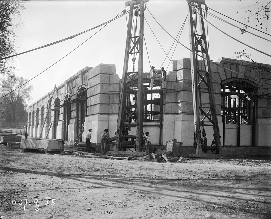 Construction of Exterior Walls of U. S. National Museum Building