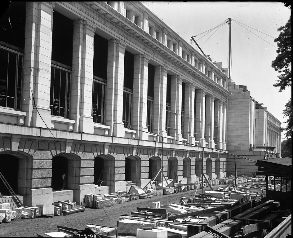 Construction of the U. S. National Museum Building