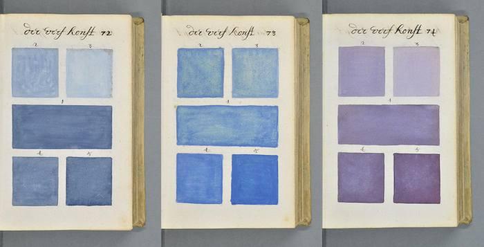 """Excerpt from """"Traité des couleurs servant à la peinture à l'eau,"""" A. Boogert, via Open Cult"""