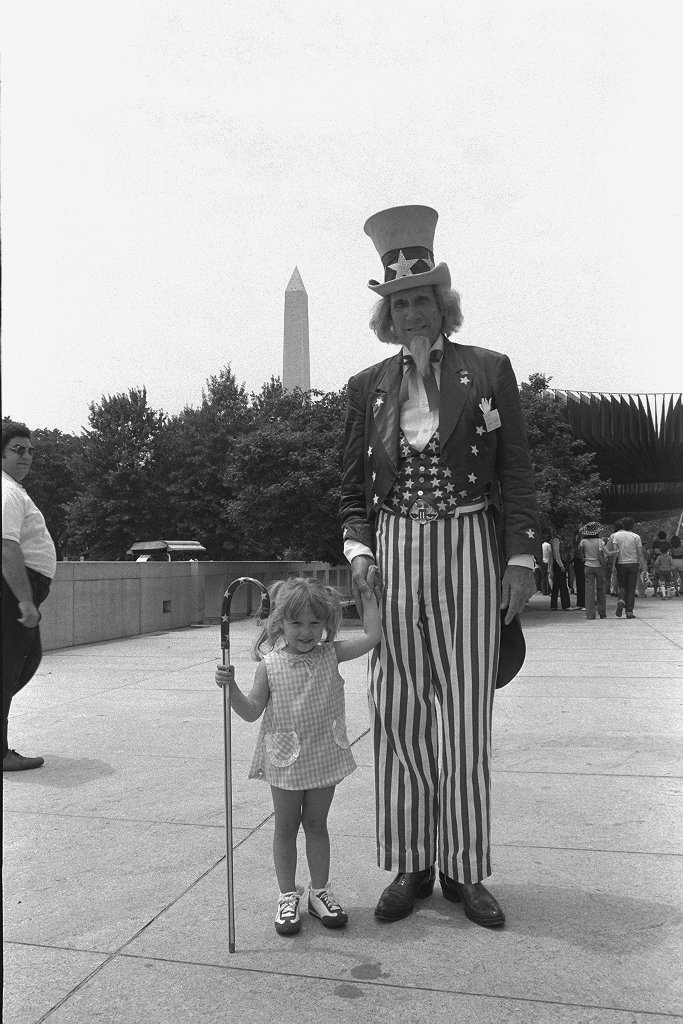 John Rusk as NMAH's Uncle Sam