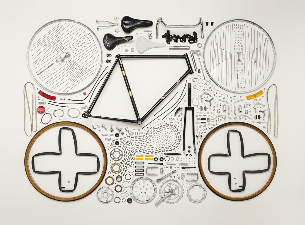 Disassembled Bicycle, by Todd McLellan