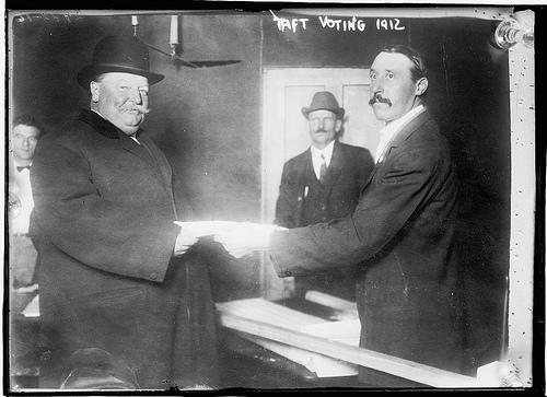 Taft Voting, by Bain News Service, publisher, 1912, Library of Congress, LC-B2- 2442-16