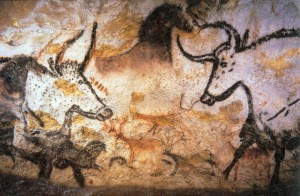 Prehistoric paintings, Lascaux caves, France. Photo courtesy of Prof saxx, Wikimedia Commons.