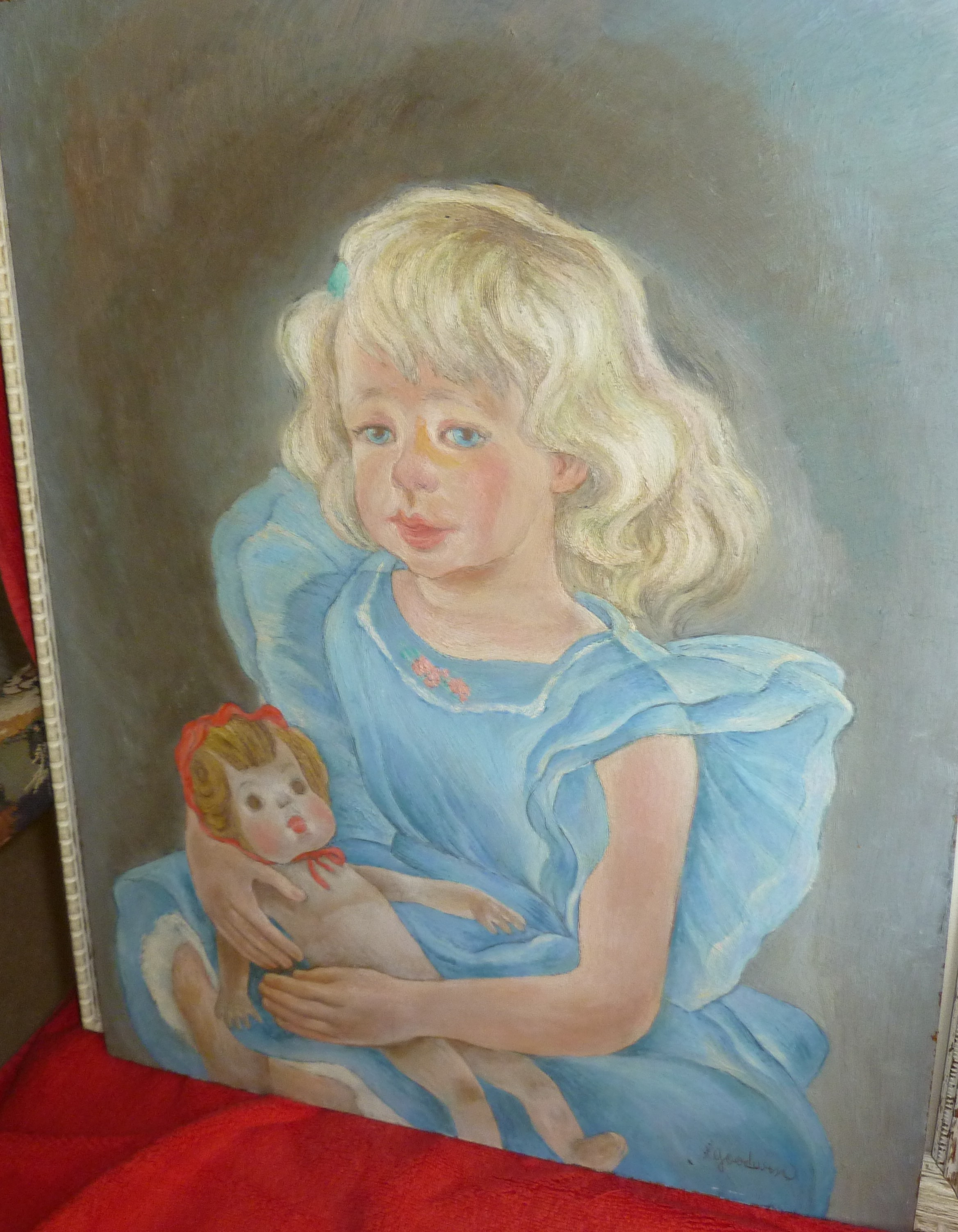 Portrait of Elizabeth Sabin Goodwin's Granddaughter, Linda Goodwin Eisenstadt, by Elizabeth Sabin Go