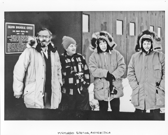 Dedication of the Ecklund Biological Research Laboratory, McMurdo Station, Antarctica, 1972, L-R :