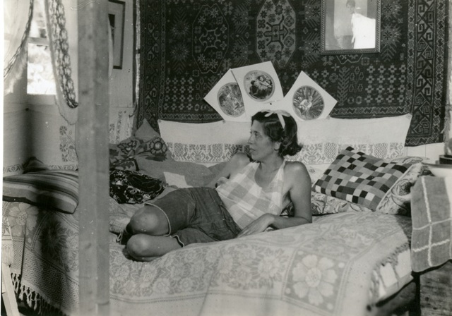 The Baroness in her Galapagos boudoir, Smithsonian Institution Archives, Waldo Schmitt Papers, Recor