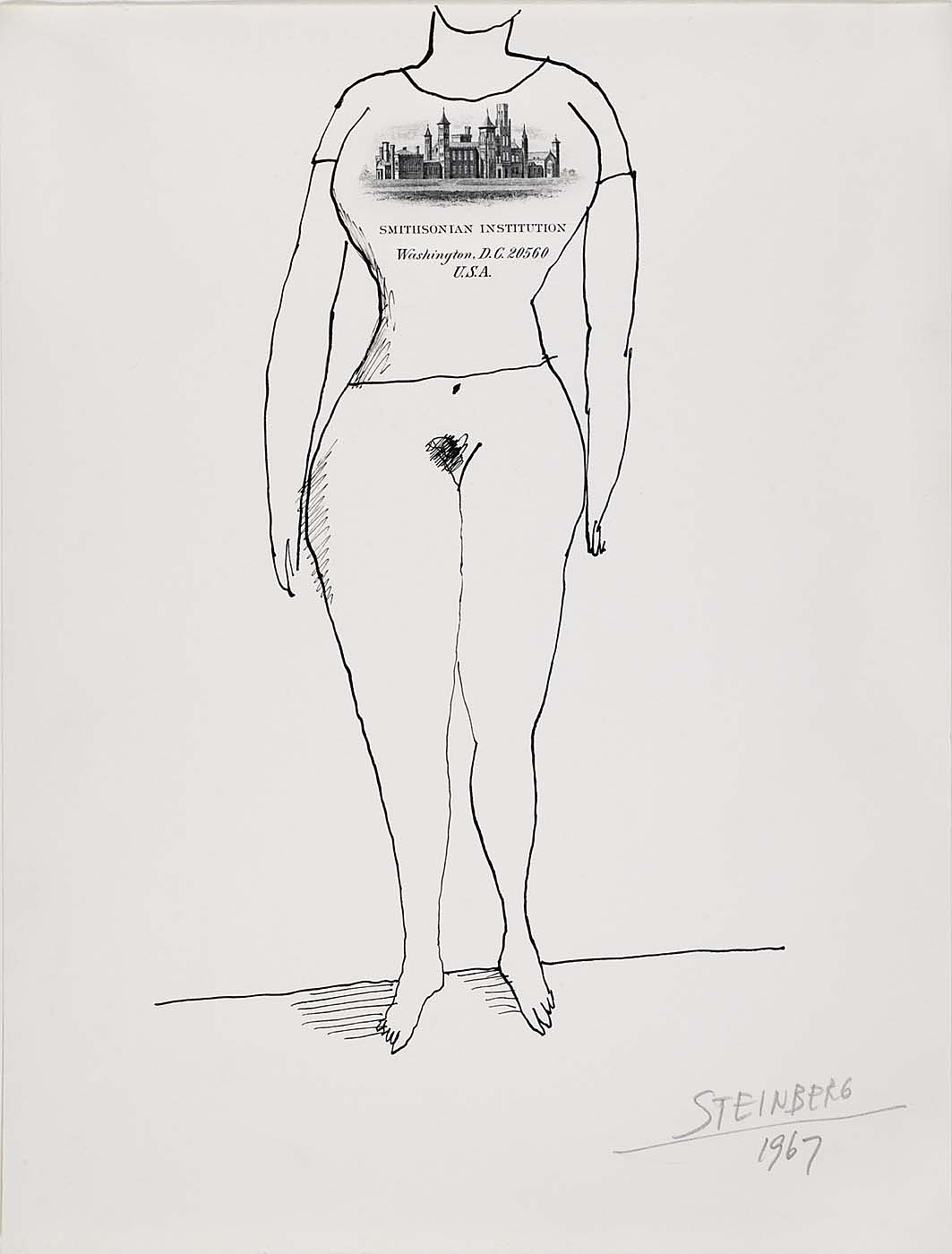 Untitled, by Saul Steinberg, 1967, Smithsonian American Art Museum