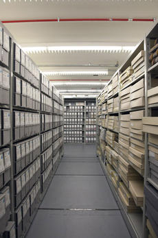 Records storage at the Smithsonian Institution Archives.