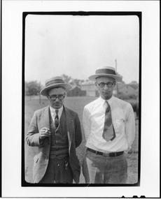 Tennessee v. John T. Scopes Trial: George Washington Rappleyea (L) and John Thomas Scopes (R).