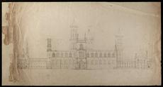 Sketch of the Castle, by James Renwick, 1846