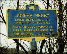 Historical Marker for Joseph Henry in Galway, New York, by Unknown, photographic print.
