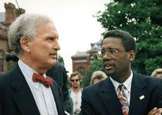 Spencer Crew with Secretary Michael Heyman, June 10, 1997, Neg no. 2006-3738.