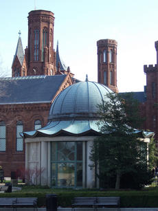 The S. Dillon Ripley Center, next to the Smithsonian Castle on the National Mall