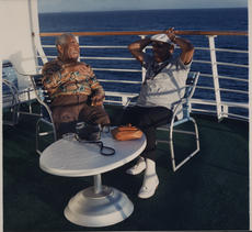 Dizzy Gillespie and Benny Carter aboard SS Norway in 1988.