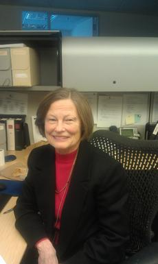 Carole Poling at work in Smithsonian Institution Archives, 2011.