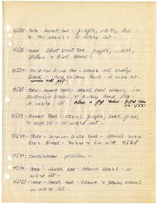 Page 143 of Paul Allen's Field Book from 1942-1947, Smithsonian Institution Archives, Accession 11-1