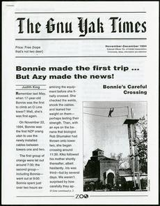 The Gnu Yak Times, November-December 1994, Smithsonian Institution Archives, Accession 12-091, Box 1
