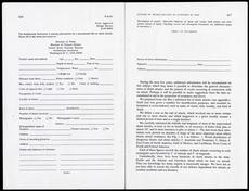 Shark Attack Report Form, by Leonard P. Schultz, c. 1959.