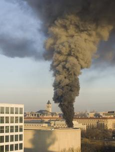 Fire at the Smithsonian's National Museum of Natural History, February 7, 2011.