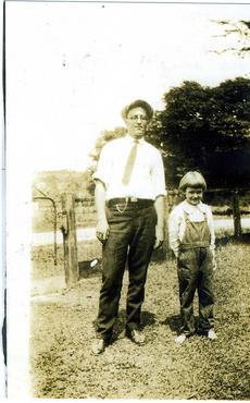 Martha Cunnygham and Steve, July 20, 1925, taken by Melrose Cunnyngham.