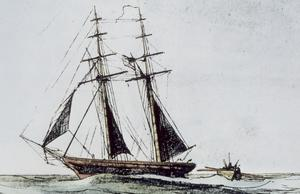 Drawing of Coast Survey Schooner Experiment