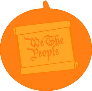 """We The People scroll"" pumpkin carving template from the National Archives, www.flickr.com/photos/ar"