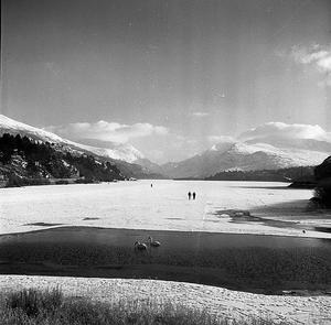 Llyn Padarn frozen, by Geoff Charles (1909-2002), February 7, 1963.