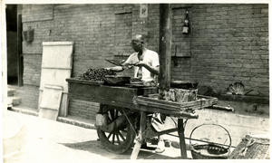Street food vendor, by Arthur de Carle Sowerby, Record Unit 7263, Smithsonian Institution Archives.