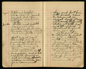 Diary entry in which Graham describes Zen's capture. Smithsonian Institution Archives, RU 7148, Box