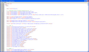 A screenshot of the Smithsonian mobile site's source code displaying a large amount of JavaScript co