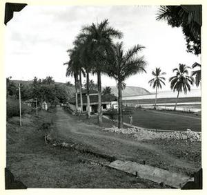 Guard house and cell-block, la Central, Coiba Island, Panama, 1956.