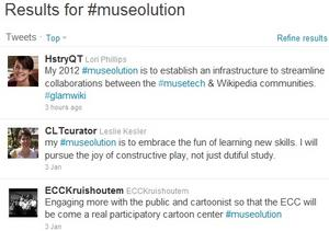 Examples of #museolutions on Twitter.