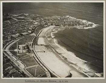 Carnival at Bondi Beach, Sydney, 19 March 1932, by Searle, E. W.