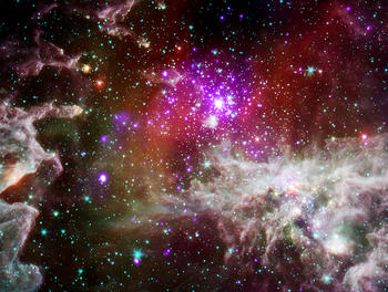 A nebula with active star formation about 6,500 light years from Earth