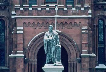 Joseph Henry statue, facing the National Mall, Neg. no. 96-1829.